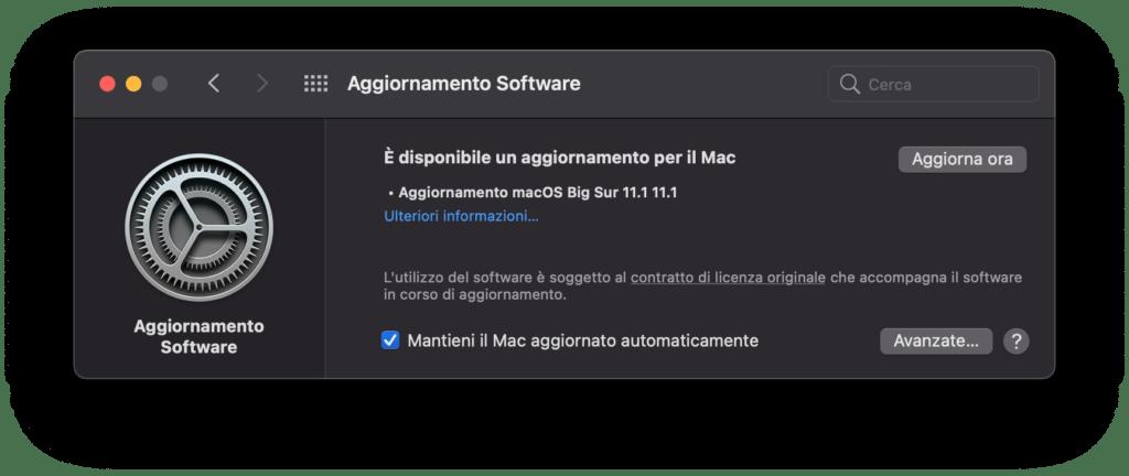 download di MacOS 11.1