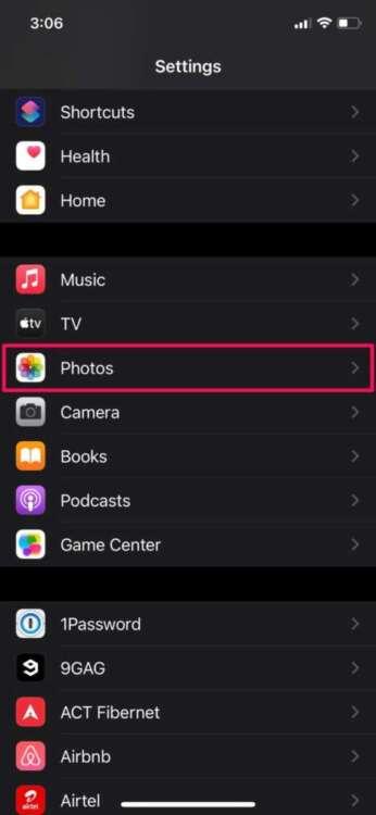 Nascondere gli album nascosti su iPhone 2