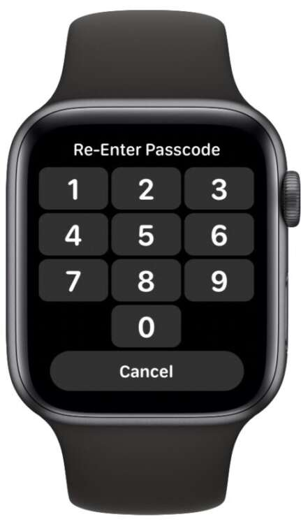 Password complessa su Apple Watch 4