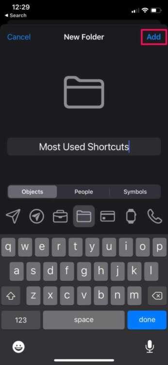 Come organizzare gli shortcuts in cartelle 3