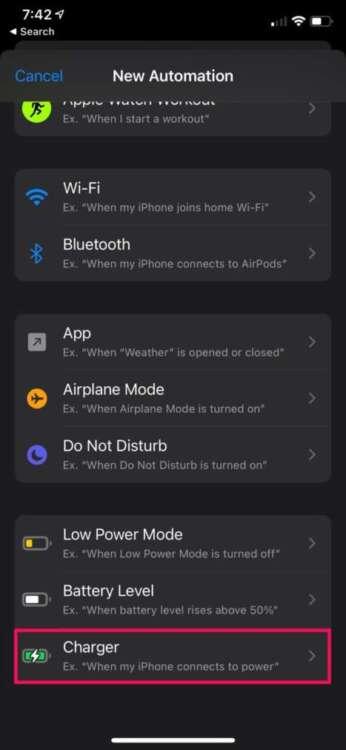 Cambiare il suono di ricarica su iPhone 1