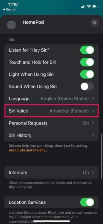 Come cambiare la lingua dell'HomePod 3